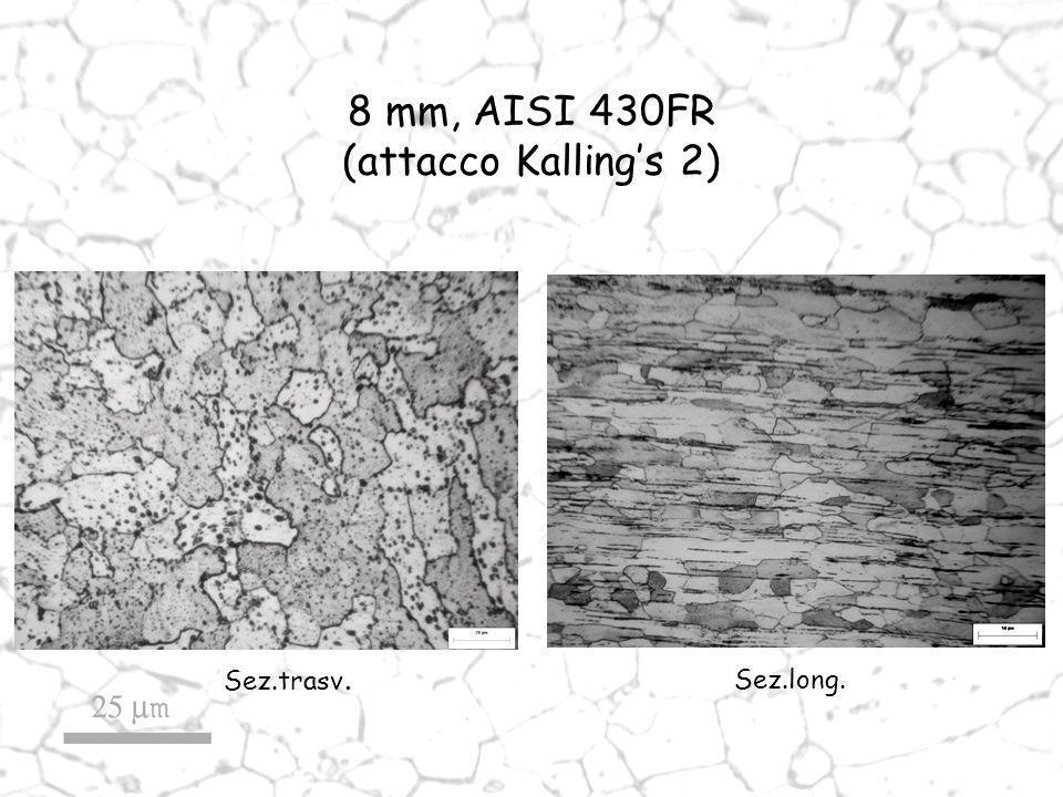 Sez.trasv. Sez.long. 8 mm, AISI 430FR (attacco Kallings 2)