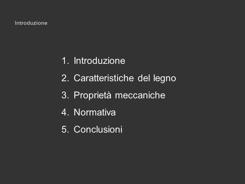 Introduzione 1.Introduzione 2.Caratteristiche del legno 3.Proprietà meccaniche 4.Normativa 5.Conclusioni