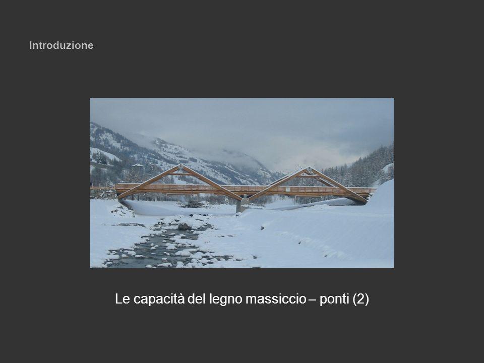 Introduzione Le capacità del legno massiccio – ponti (2)
