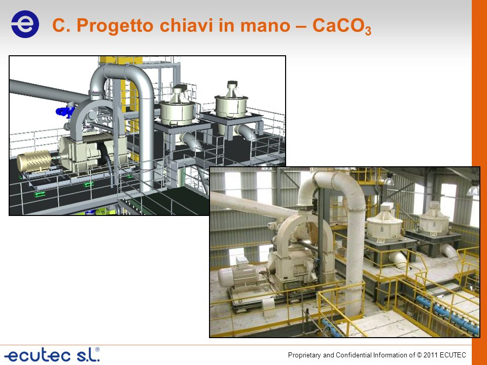 Proprietary and Confidential Information of © 2011 ECUTEC C. Progetto chiavi in mano – CaCO 3