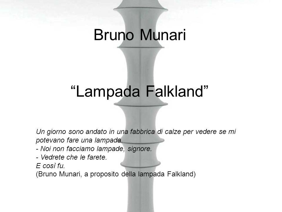 Bruno Munari Lampada Falkland Un giorno sono andato in una fabbrica di calze per vedere se mi potevano fare una lampada. - Noi non facciamo lampade, s