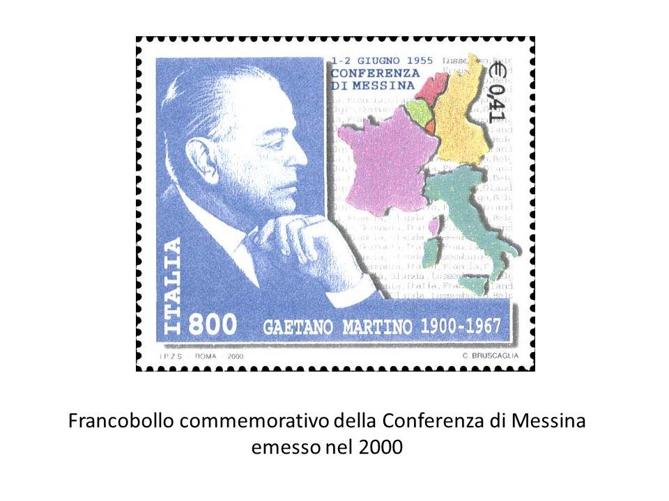 Francobollo commemorativo della Conferenza di Messina emesso nel 2000