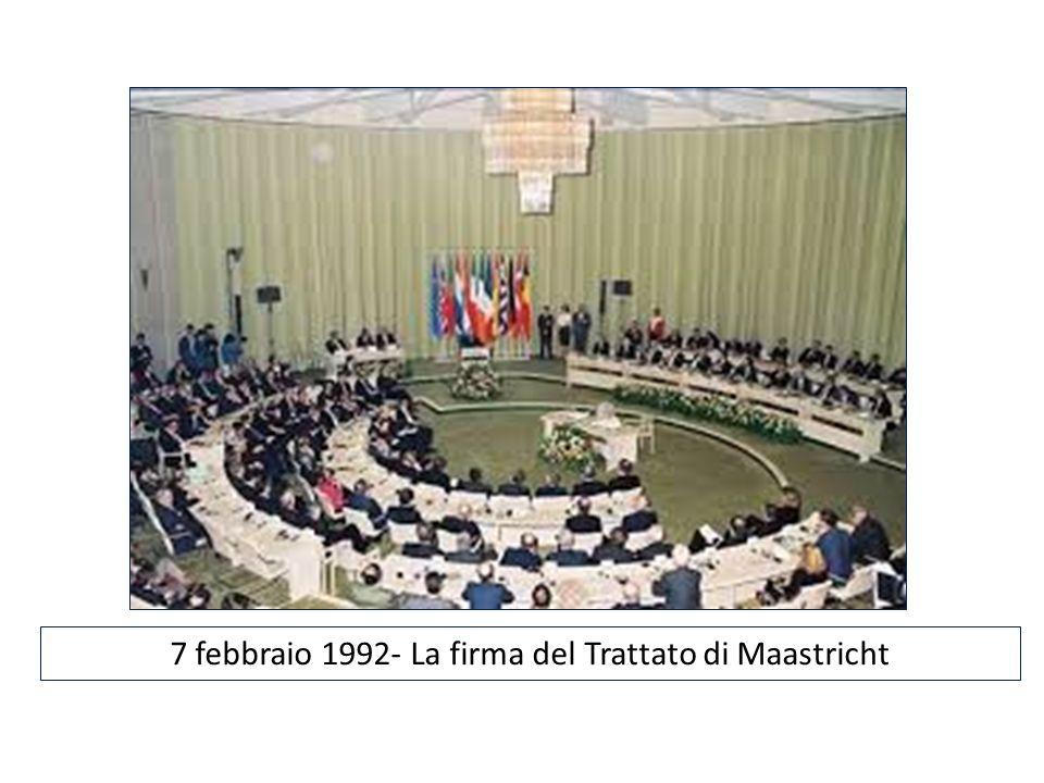 7 febbraio 1992- La firma del Trattato di Maastricht