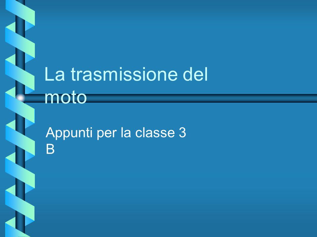 La trasmissione del moto Appunti per la classe 3 B