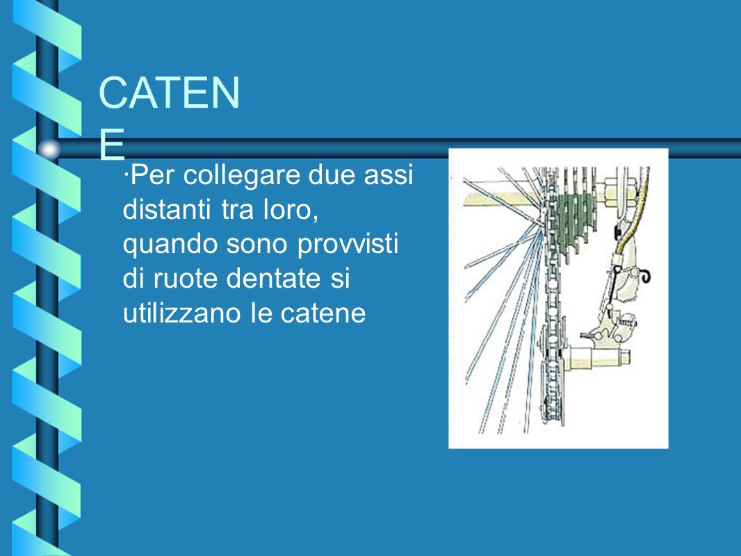 CATEN E ·Per collegare due assi distanti tra loro, quando sono provvisti di ruote dentate si utilizzano le catene
