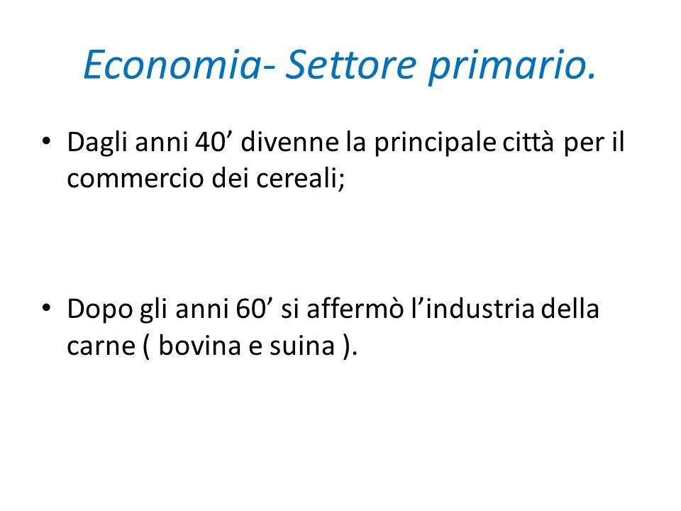 Economia-Settore secondario.Nel 1860 ci fu il primo esempio di industria globale.