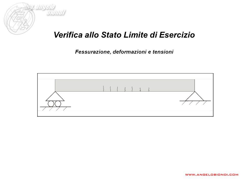 Verifica allo Stato Limite di Esercizio Fessurazione, deformazioni e tensioni