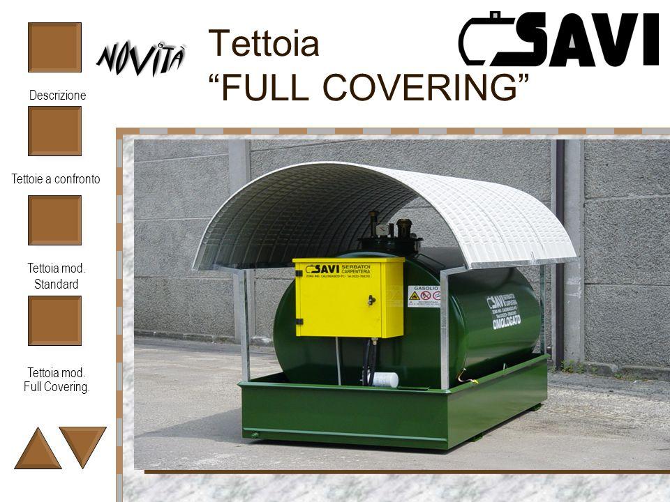 Tettoie a confronto Tettoia mod. Standard Tettoia mod. Full Covering. Descrizione Tettoia FULL COVERING Fotografia del prodotto