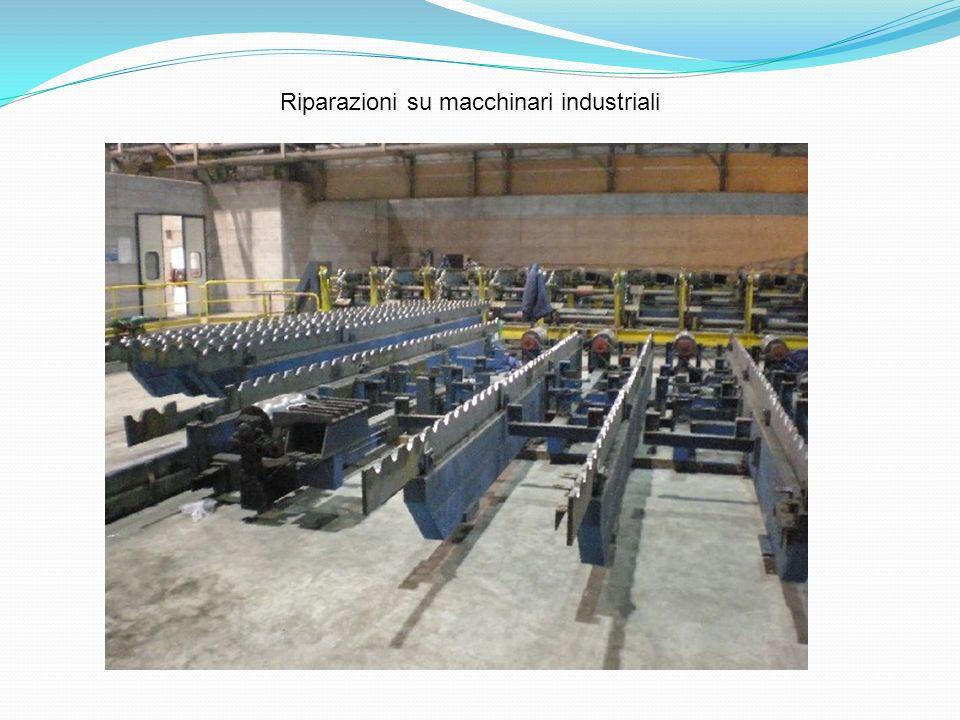 Riparazioni su macchinari industriali