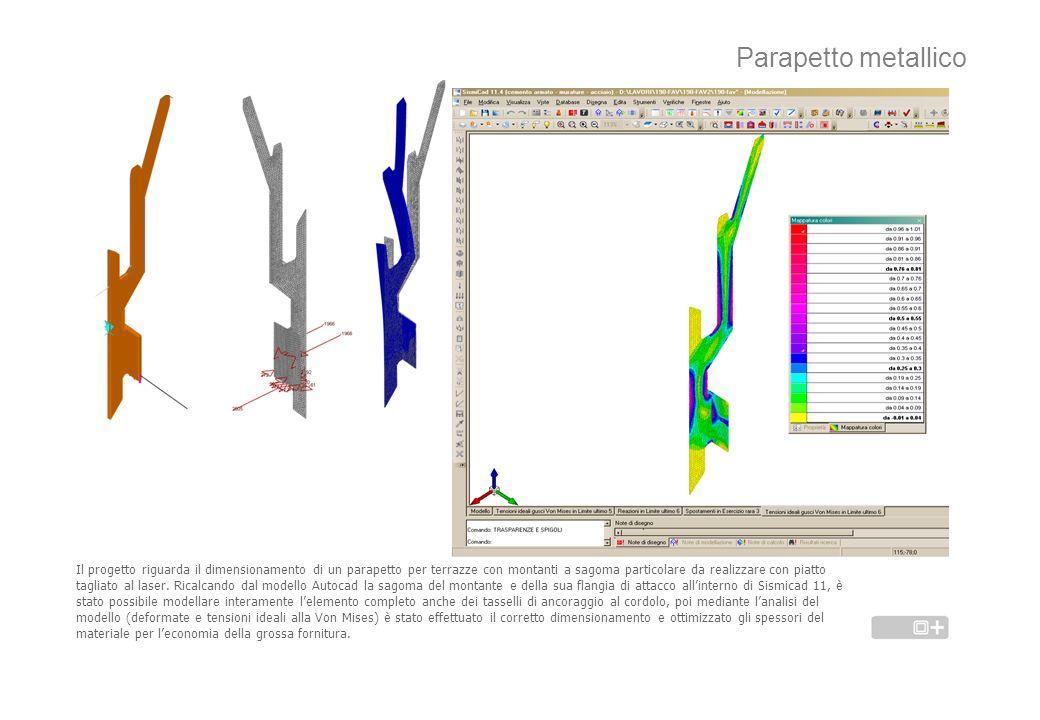 Parapetto metallico Il progetto riguarda il dimensionamento di un parapetto per terrazze con montanti a sagoma particolare da realizzare con piatto ta