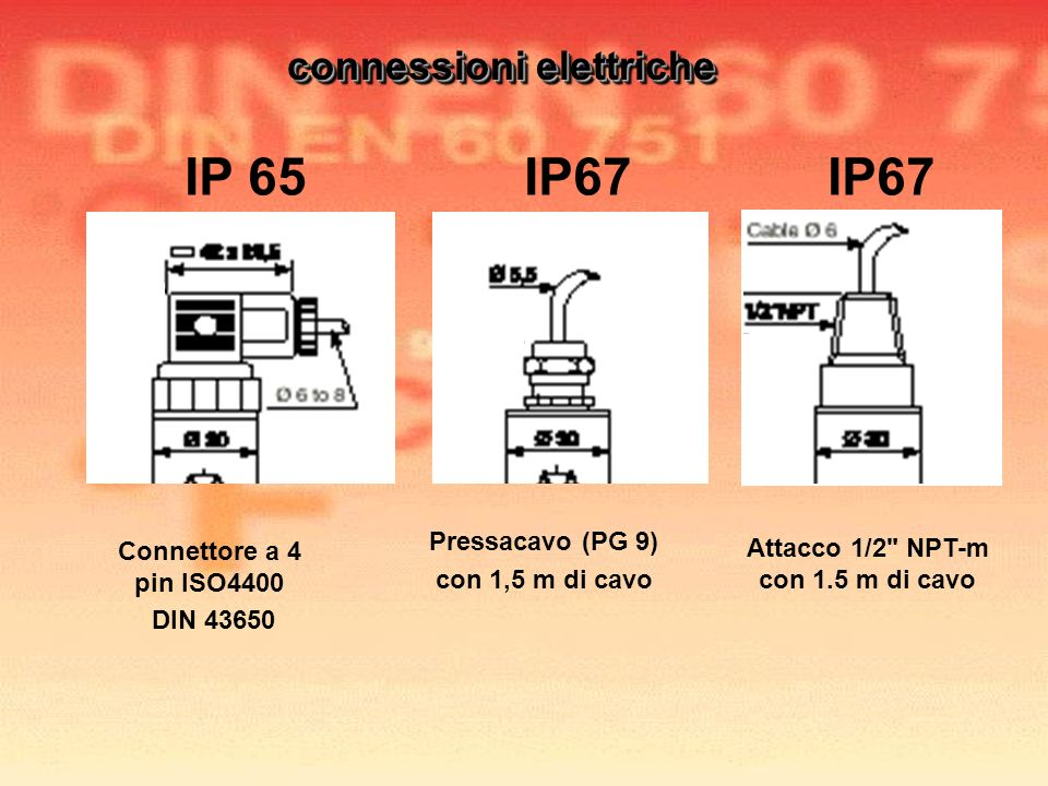 Connettore a 4 pin ISO4400 DIN 43650 Attacco 1/2