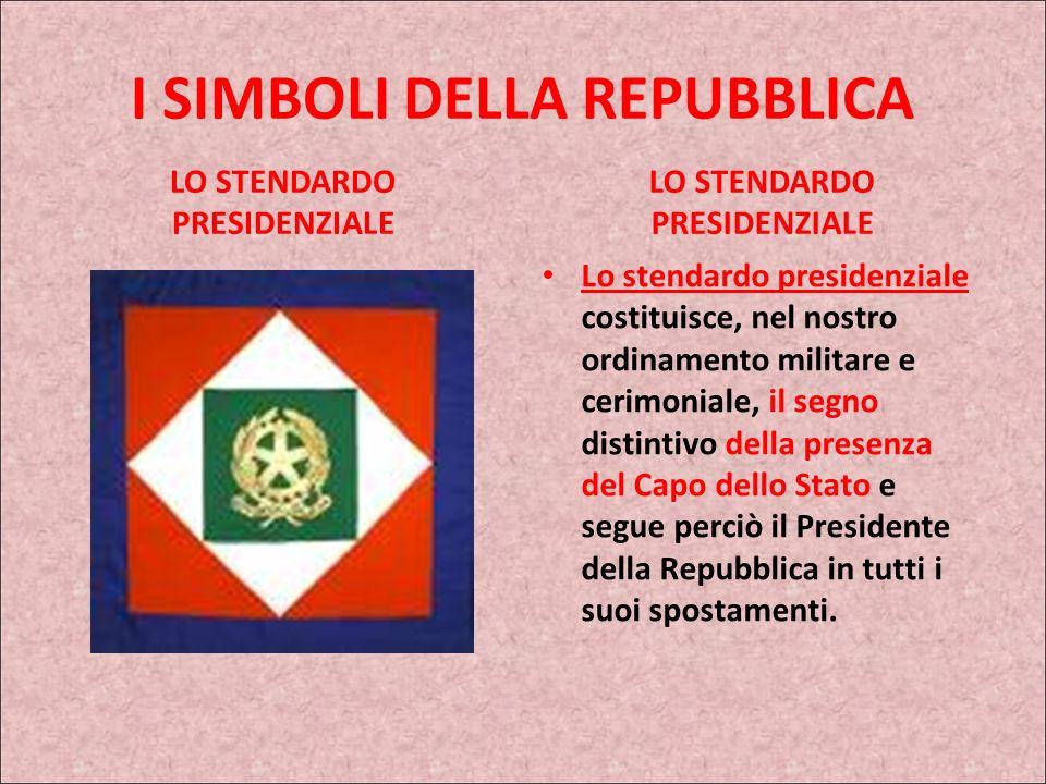IL TRICOLORE Oggi, come recita larticolo 12 della nostra Carta Costituzionale: La bandiera della Repubblica è il tricolore italiano: verde, bianco e r