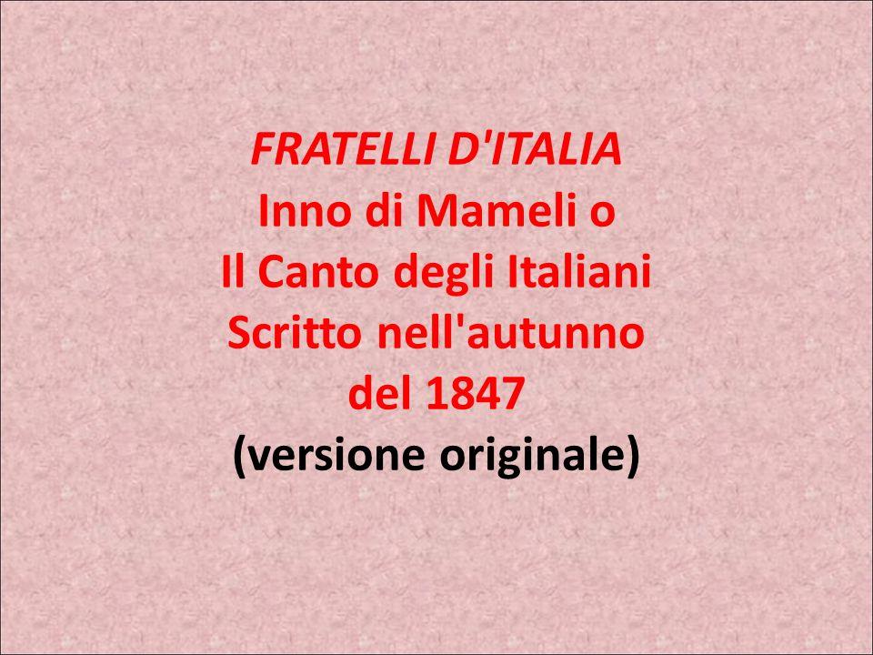 LINNO NAZIONALE FRATELLI D'ITALIA GOFFREDO MAMELIMICHELE NOVARO