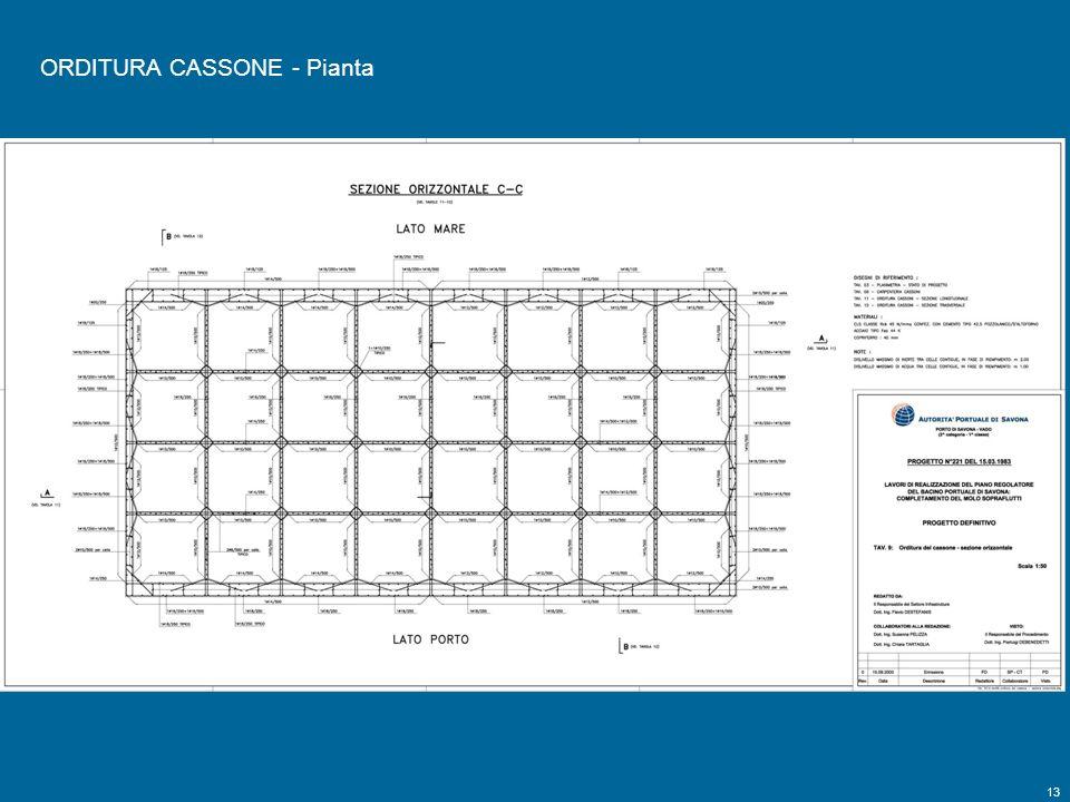 13 Tavola 9 ORDITURA CASSONE - Pianta