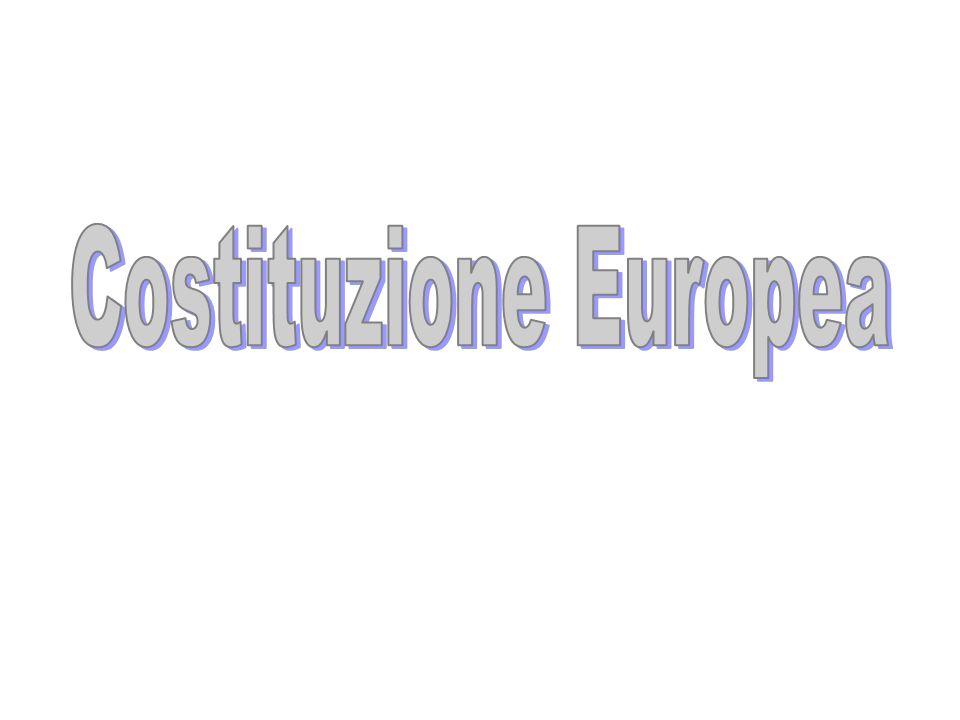 Francia, Italia, Germania, Belgio, Paesi Bassi, Lussemburgo Comunità Europea del carbone e dellacciaio (CECA) (nuovo mercato comune) TRATTATO DI ROMA (1957) Comunità Europea dellenergia atomica (EURATOM) Comunità Economica Europea (CEE) UNIONE EUROPEA25 Stati membri