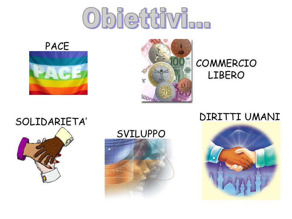 PACE COMMERCIO LIBERO SOLIDARIETA SVILUPPO DIRITTI UMANI