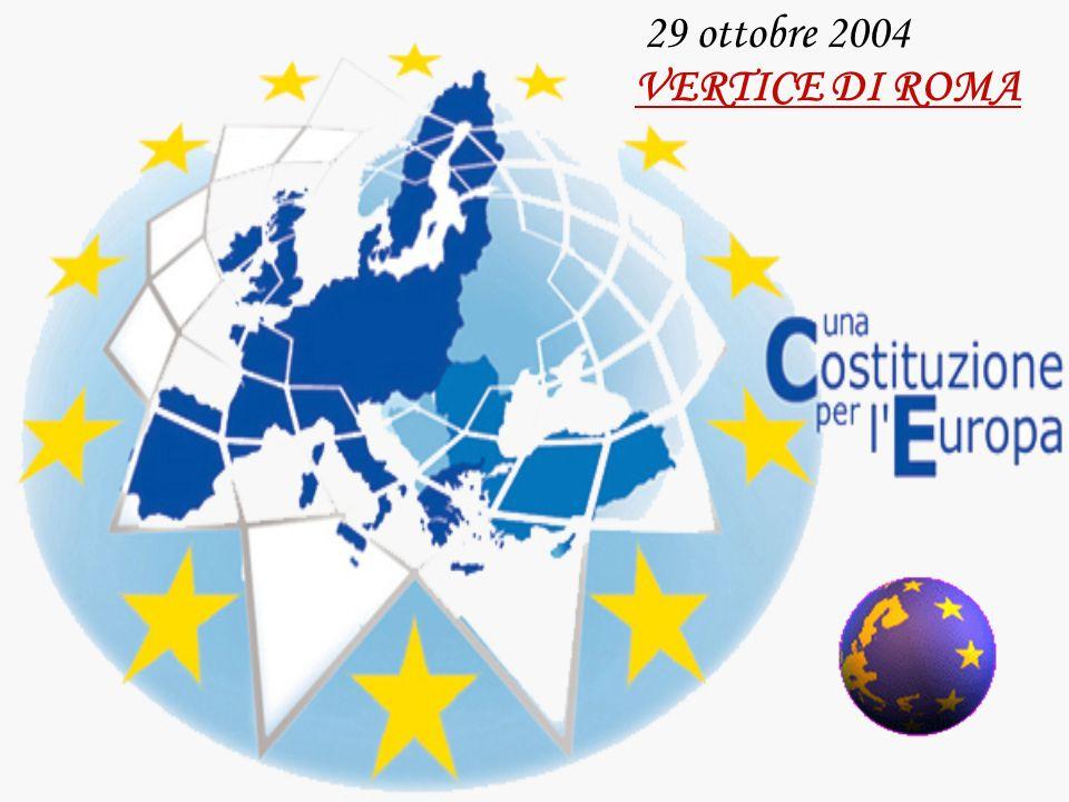 Convocazione della CONVENZIONE TRATTATO ISTITUTIVO (29 ottobre 2004) Per entrare in vigore… (Art.