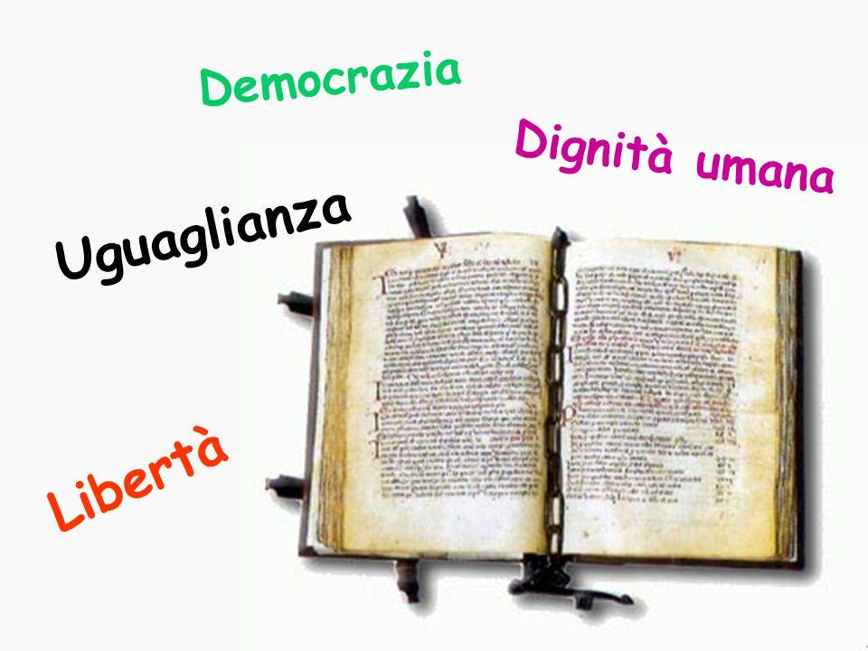 Libertà Dignità umana Democrazia Uguaglianza