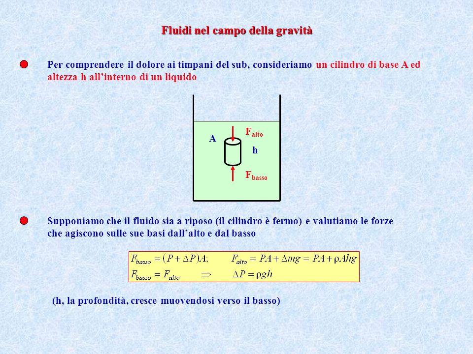 Allinterno di un liquido la pressione non dipende dalla direzione secondo cui agiscono le forze, se il fluido è a riposo Ciò si comprende col fatto che una sottilissima lastra di vetro non si rompe: la pressione su entrambe le facce deve bilanciarsi qualunque sia lorientazione della lastra Questa circostanza è una proprietà dei fluidi che si chiama isotropia (equivalenza di tutte le diverse direzioni), e la pressione, in tal caso, si dice idrostatica Bisogna tuttavia realizzare che lequilibrio (diciamo per ora che il liquido è macroscopicamente immobile) è una condizione importante perché la pressione idrostatica sia la stessa in tutti i punti: se così non fosse, per esempio, differenti strati di liquido sarebbero in moto relativo