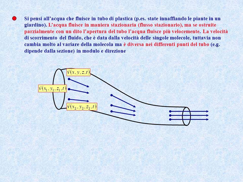 Si è visto che lo studio della meccanica dei fluidi non si può affrontare, se non ad un prezzo enorme dal punto di vista dei calcoli (p.es.