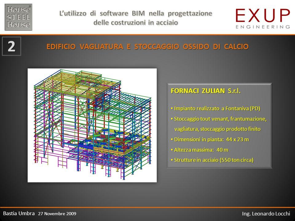 Bastia Umbra 27 Novembre 2009 Ing. Leonardo Locchi EDIFICIO VAGLIATURA E STOCCAGGIO OSSIDO DI CALCIO FORNACI ZULIAN S.r.l. 2 Impianto realizzato a Fon