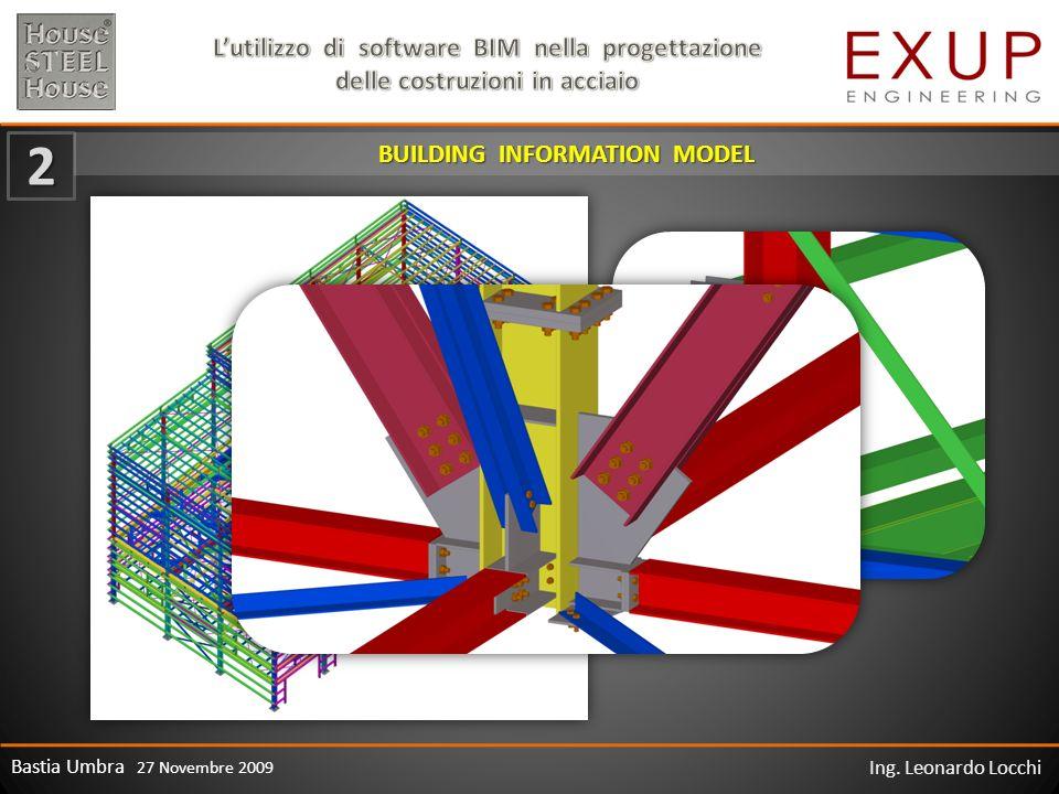 Bastia Umbra 27 Novembre 2009 Ing. Leonardo Locchi 2 BUILDING INFORMATION MODEL