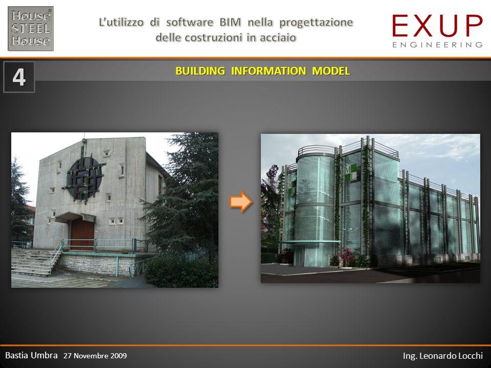 Bastia Umbra 27 Novembre 2009 Ing. Leonardo Locchi BUILDING INFORMATION MODEL 4