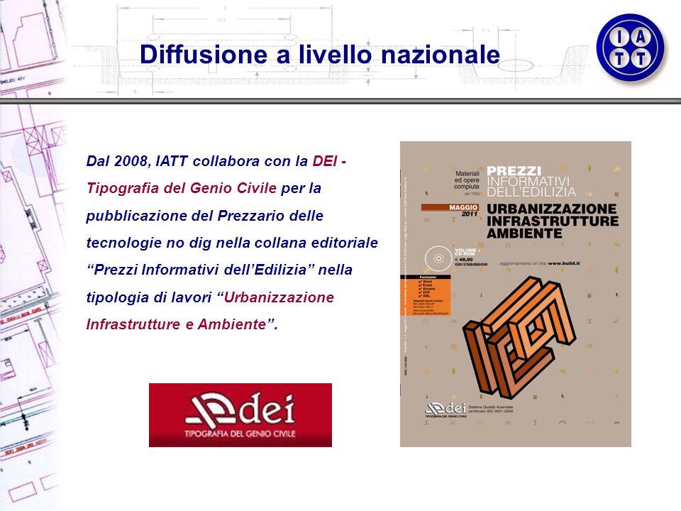 Dal 2008, IATT collabora con la DEI - Tipografia del Genio Civile per la pubblicazione del Prezzario delle tecnologie no dig nella collana editoriale