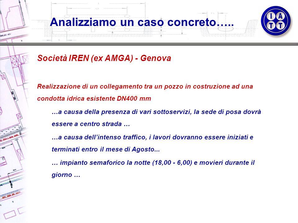 Società IREN (ex AMGA) - Genova Realizzazione di un collegamento tra un pozzo in costruzione ad una condotta idrica esistente DN400 mm …a causa della