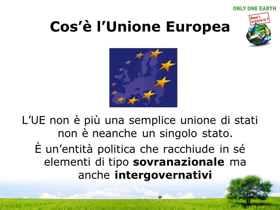 Cosè lUnione Europea LUE non è più una semplice unione di stati non è neanche un singolo stato.