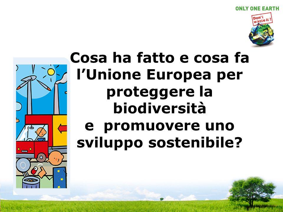 Cosa ha fatto e cosa fa lUnione Europea per proteggere la biodiversità e promuovere uno sviluppo sostenibile?