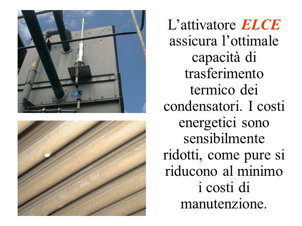 Lattivatore ELCE assicura lottimale capacità di trasferimento termico dei condensatori. I costi energetici sono sensibilmente ridotti, come pure si ri