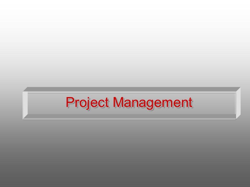 La scelta del livello di disaggregazione del progetto dipende da : Esigenza di identificare un livello più basso di scomposizione Dalle dimensioni del cantiere Dalla durata del cantiere Dal livello del controllo gestionale durante lesecuzione lavori Dal livello di rilievo delle fasi che si intende attuare Livello di Disaggregazione PROJECT MANAGEMENT
