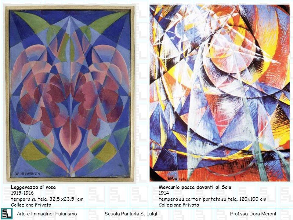 Arte e Immagine: FuturismoScuola Paritaria S. LuigiProf.ssa Dora Meroni Leggerezza di rose 1915-1916 tempera su tela, 32.5 x23.5 cm Collezione Privata