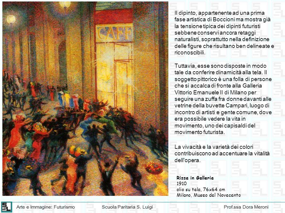 Arte e Immagine: FuturismoScuola Paritaria S. LuigiProf.ssa Dora Meroni Rissa in Galleria 1910 olio su tela, 76x64 cm Milano, Museo del Novecento Il d