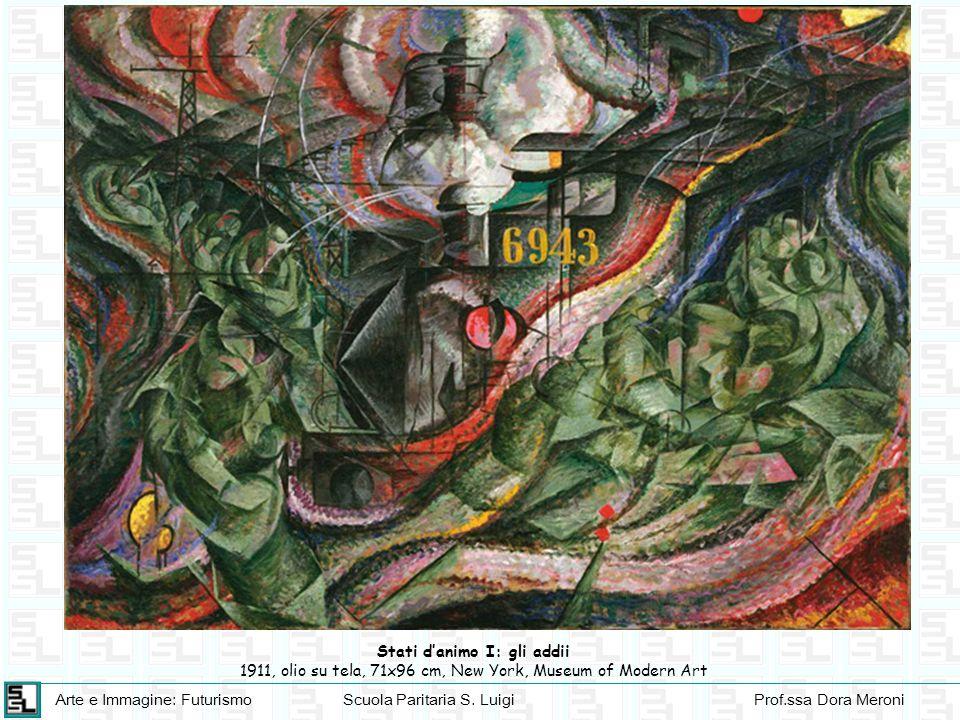 Arte e Immagine: FuturismoScuola Paritaria S. LuigiProf.ssa Dora Meroni Stati danimo I: gli addii 1911, olio su tela, 71x96 cm, New York, Museum of Mo
