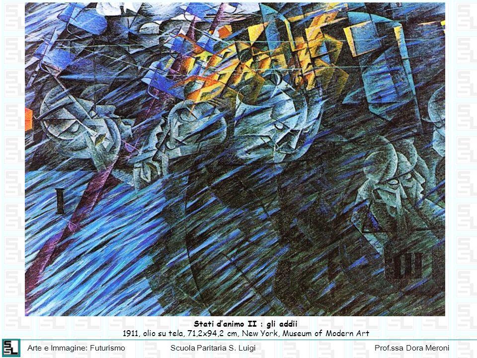 Arte e Immagine: FuturismoScuola Paritaria S. LuigiProf.ssa Dora Meroni Stati danimo II : gli addii 1911, olio su tela, 71,2x94,2 cm, New York, Museum