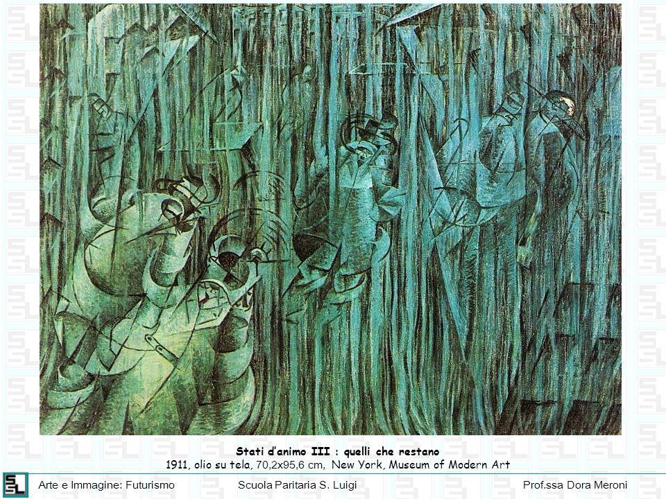 Arte e Immagine: FuturismoScuola Paritaria S. LuigiProf.ssa Dora Meroni Stati danimo III : quelli che restano 1911, olio su tela, 70,2x95,6 cm, New Yo