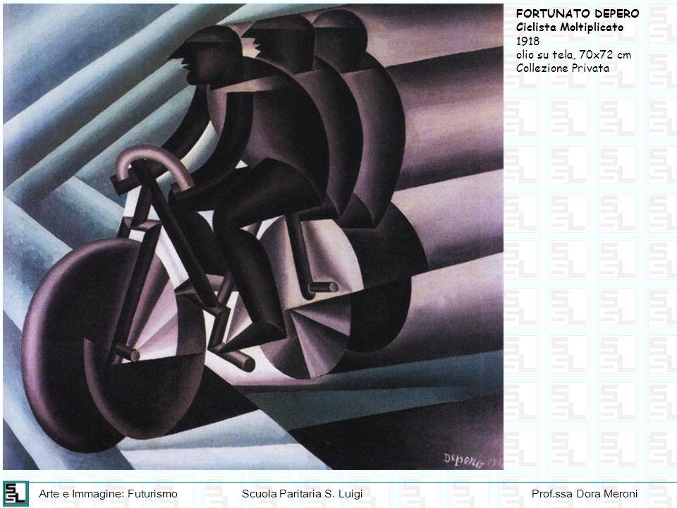 Arte e Immagine: FuturismoScuola Paritaria S. LuigiProf.ssa Dora Meroni FORTUNATO DEPERO Ciclista Moltiplicato 1918 olio su tela, 70x72 cm Collezione