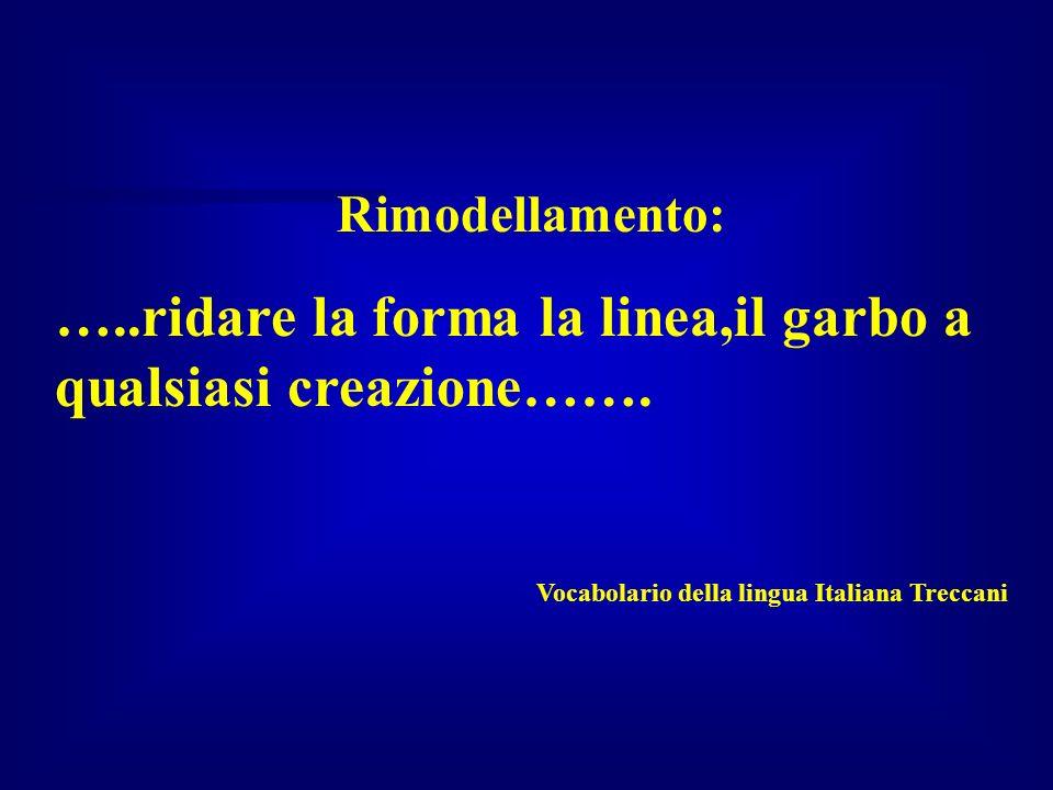 Rimodellamento: …..ridare la forma la linea,il garbo a qualsiasi creazione……. Vocabolario della lingua Italiana Treccani