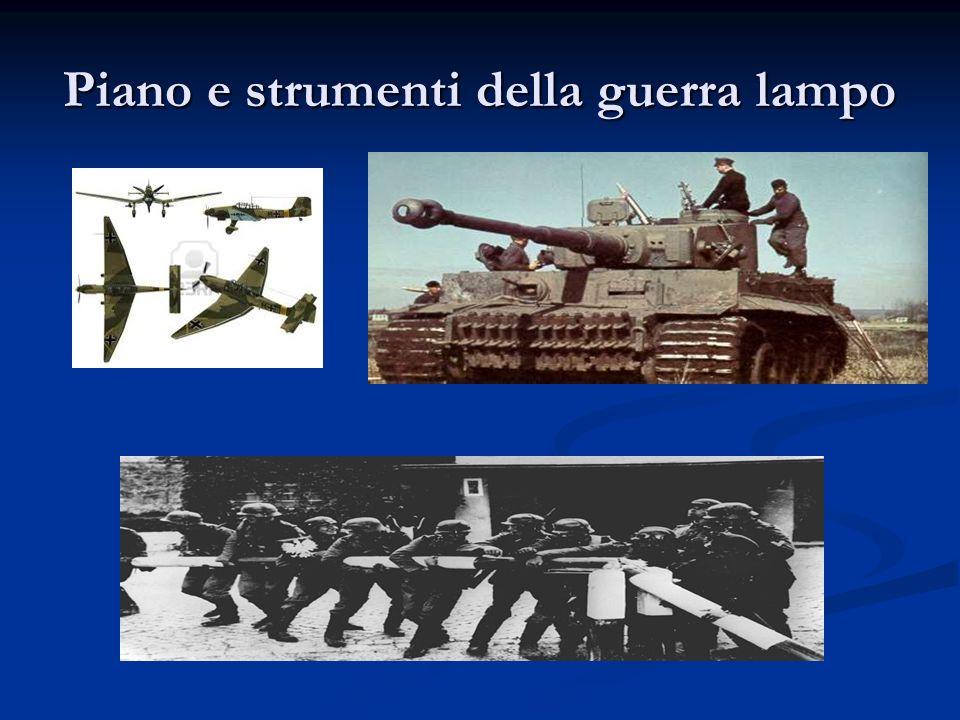 Piano e strumenti della guerra lampo