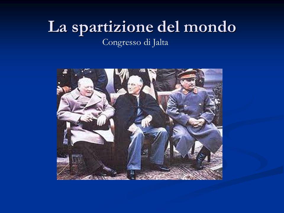 La spartizione del mondo Congresso di Jalta