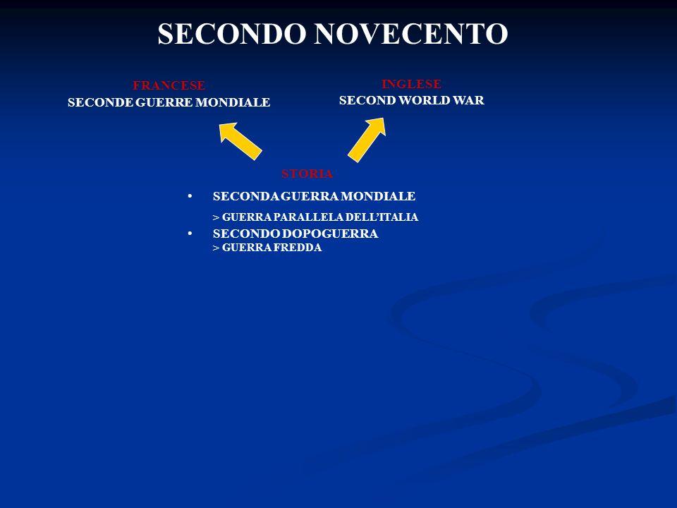 SECONDO NOVECENTO FRANCESE SECONDE GUERRE MONDIALE INGLESE SECOND WORLD WAR STORIA SECONDA GUERRA MONDIALE > GUERRA PARALLELA DELLITALIA SECONDO DOPOGUERRA > GUERRA FREDDA