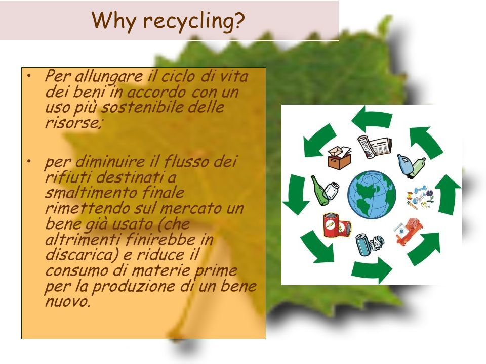 COLLECTING AND RECYCLING OF PLASTICS.