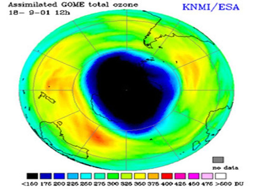 IL FENOMENO La stratosfera terrestre contiene una concentrazione relativamente alta di ozono, un gas costituito da tre atomi di ossigeno (O 3 ) e che