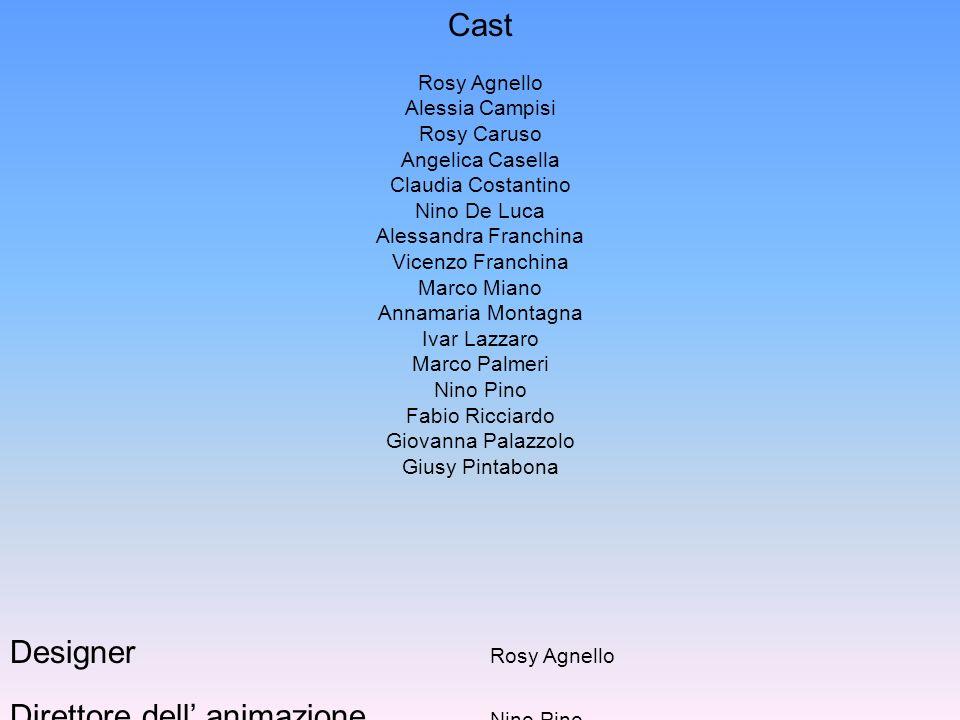 Cast Rosy Agnello Alessia Campisi Rosy Caruso Angelica Casella Claudia Costantino Nino De Luca Alessandra Franchina Vicenzo Franchina Marco Miano Anna