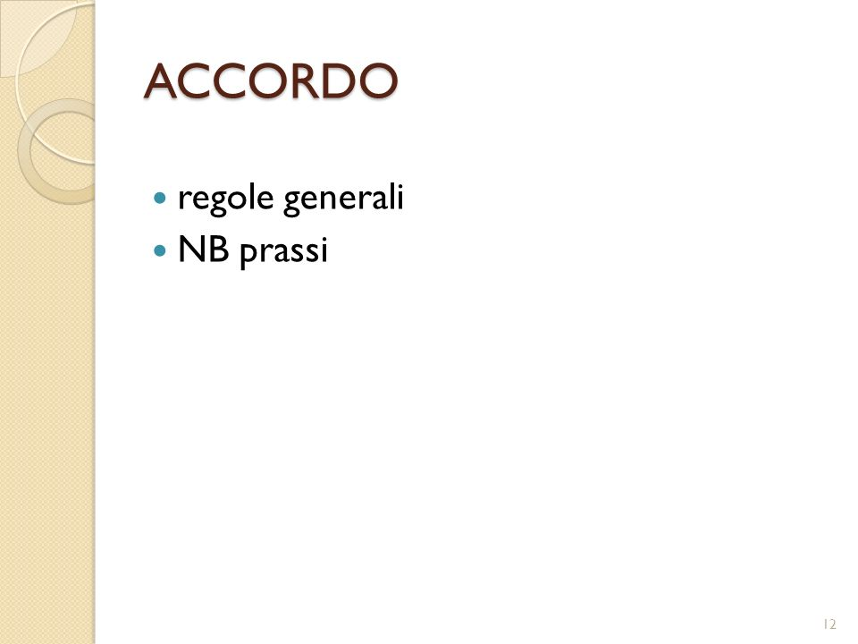 ACCORDO regole generali NB prassi 12