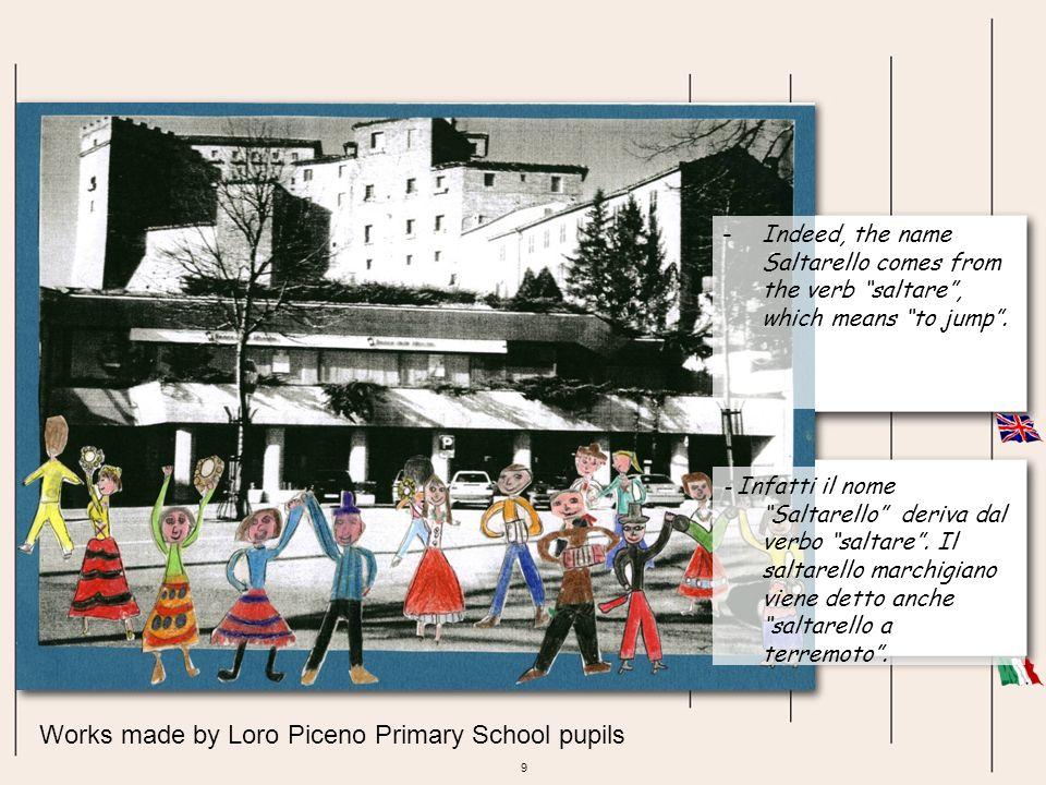30 Works made by Colmurano Primary School pupils Gli alunni delle classi quarta e quinta effettuano una ricerca sugli strumenti musicali, in particolare quelli legati alla tradizione folcloristica marchigiana.
