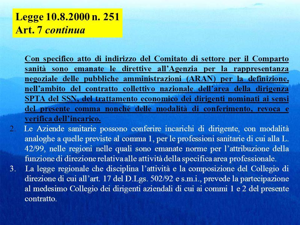 D.Lgs.502/1992, art. 15 septies : Contratti a tempo determinato COMMA1.