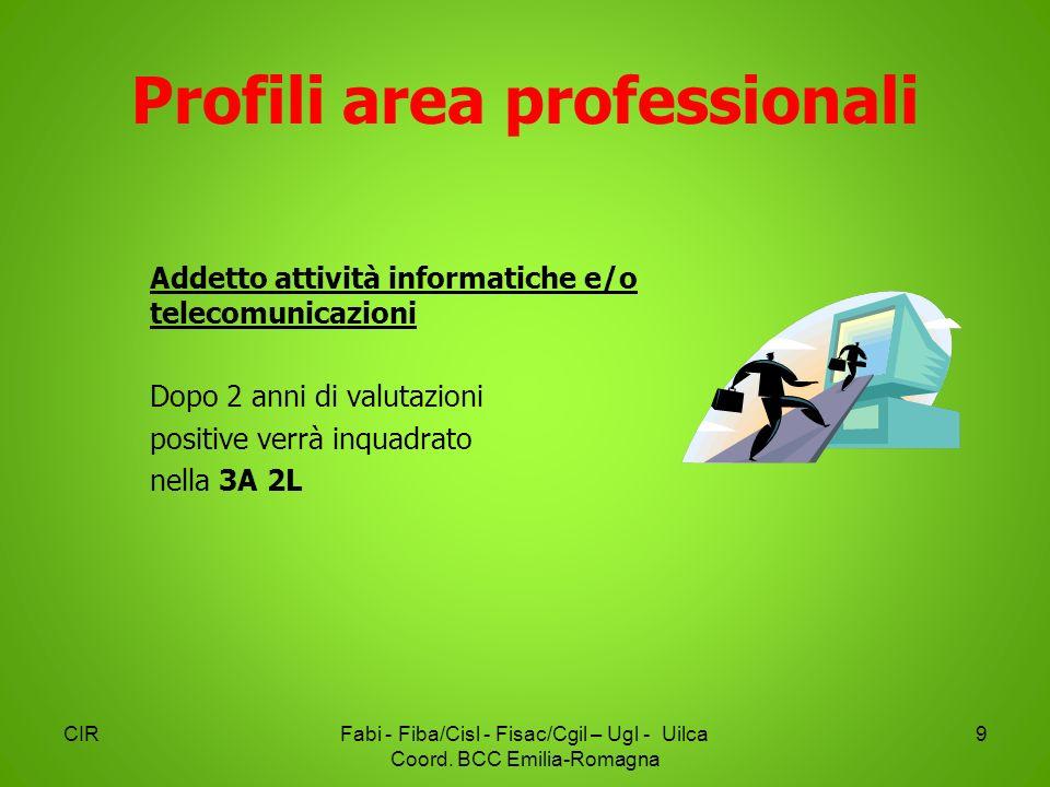 Profili area professionali CIRFabi - Fiba/Cisl - Fisac/Cgil – Ugl - Uilca Coord. BCC Emilia-Romagna 9 Addetto attività informatiche e/o telecomunicazi